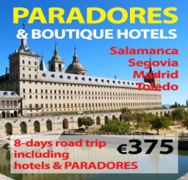 8-days Self Drive Trip  Paradores & Boutique Hotels (from Madrid)