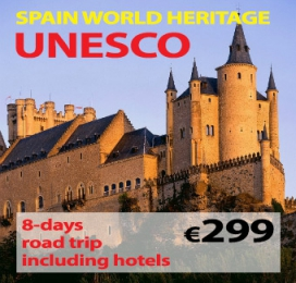"8-days Self Drive Trip "" World Heritage UNESCO Spain """